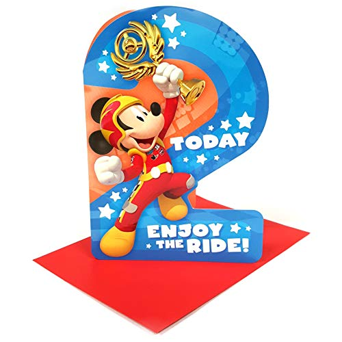 Disney Mickey Mouse '2 Vandaag' Verjaardagskaart met envelop