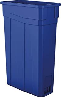 AmazonBasics 23 Gallon Commercial Slim Trash Can, No Handle, Blue, 2-Pack - TCN2030BL2A
