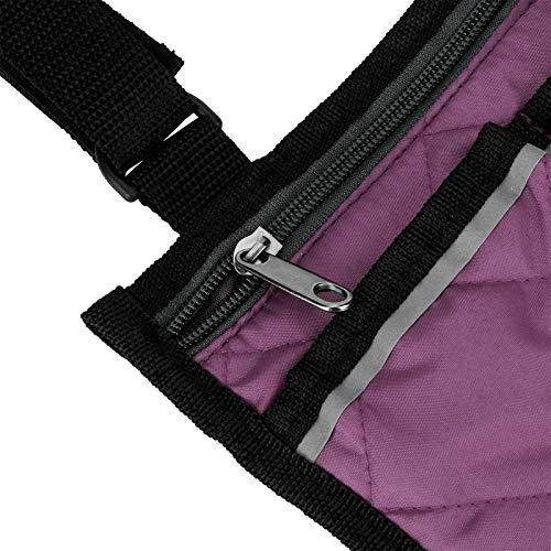 Bolso del lado de la silla de ruedas de la mochila del mensajero del viaje, bolsillo múltiple para el carro del bebé(Púrpura)
