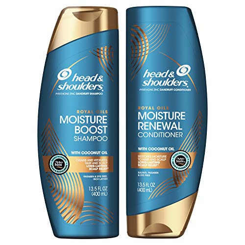 Head & Shoulders Royal Oils Moisture Shampoo and Conditioner Bundle, 27 fl oz, Kit ( Pacakge may Vary)