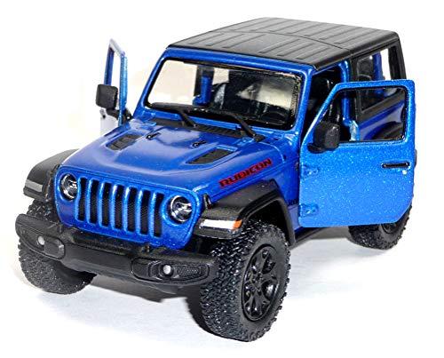 test Universal Jeep Wrangler Bicon Modell ca.  Kinsmart 12,5 cm blau geschlossene Oberseite Deutschland