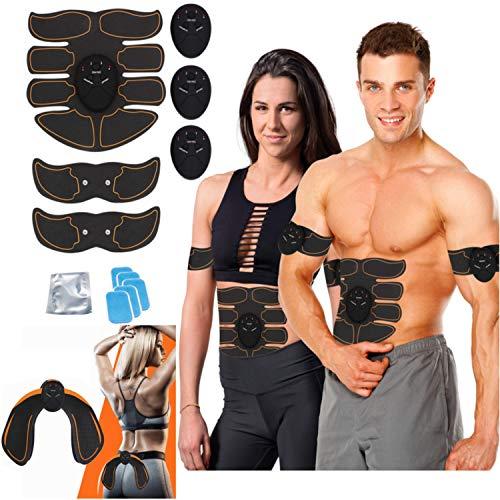 kames skoss prestige - Dispositivo di elettrostimolazione, Trainer con Cintura di elettrostimolazione, elettrostimolatore per Addominali, Massaggio,Dispositivo per Glutei (Pile)