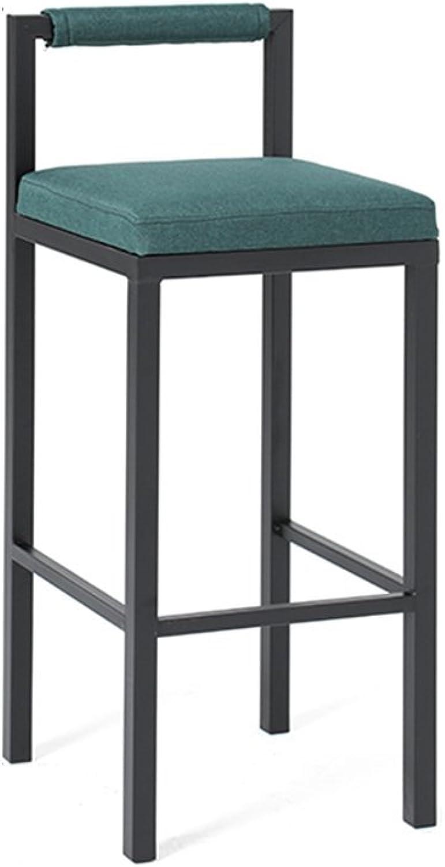 LLYU Modern Minimalist bar Chair Restaurant high Stool, Kitchen Metal Chair bar bar Chair Coffee Chair,