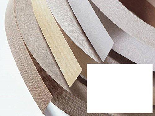 Randomlijmer, strijkrand, melamine rand met smeltlijm voor meubelbouwplaten en planken - 5 meter - witte parel hoogte 43 mm