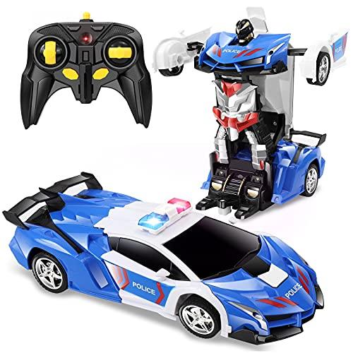 FAFUGANIA Remote Control Car, Transform Robot RC Car with One Button Deformation, 2.4Ghz 360 Degree...