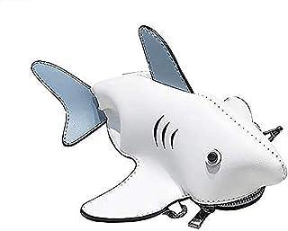 ZYLL Netter Shark Crossbody Beutel, Schulter Messenger Bag 3D Animalpersonality Dinosaurier Kleine Shark Umhängetasche Wei...