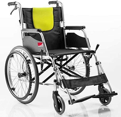 XUSHEN-HU Sillas de ruedas de aleación de aluminio portátil silla de ruedas plegable manual silla de ruedas gratis inflable, coche de discapacitados viaje silla de ruedas silla de ruedas