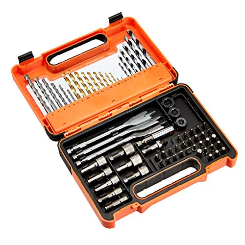 AmazonBasics - Set di punte di vario tipo per trapano e kit di accessori per cacciavite, 71 pezzi