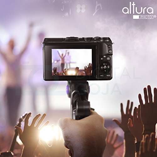 Altura Photo Mini Tripod Tabletop Stand w/Soft Pistol Grip for DSLR, Audio Recorder and Video