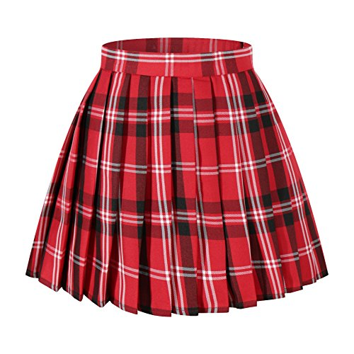 Japan high Waisted Pleated Cosplay Skirt