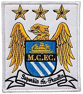 England Soccer Team Manchester City Football Soccer Club Logo Military Hook Loop Tactics Morale Embroidered Patch