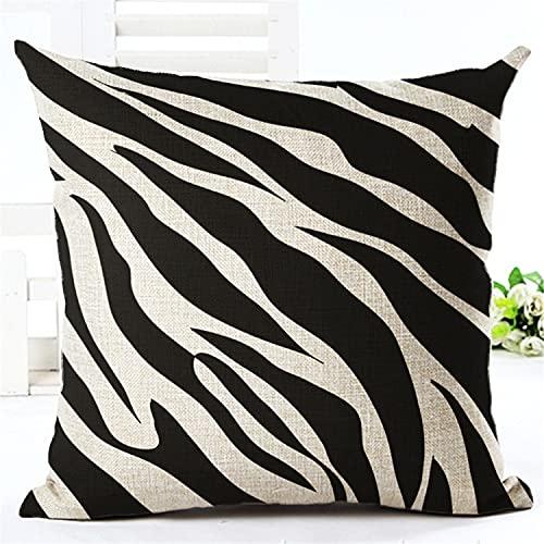 Fodere per cuscini morbidi Federe in velluto a coste per divano letto Fodera per cuscino decorativo per la casa a strisce di mais 45x45 per divano-45 * 45 cm, 2 pezzi_Motivo zebrato