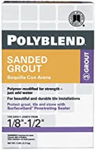 Custom Building Products 19 Polyblend Sanded Tile Grout, 7-Pound, Pewter