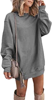 ouxiuli Womens Autumn Long Sleeve Round Neck Sweatshirts Color Block Pullover Tops