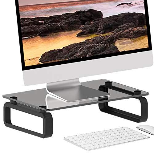 HEMUDU Soporte para Monitor Vidrio Templado Elevador Negro HD02B-001P