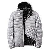 Chaqueta reversible de plumón para hombre con ultraligera chaqueta de plumón para hombre otoño...