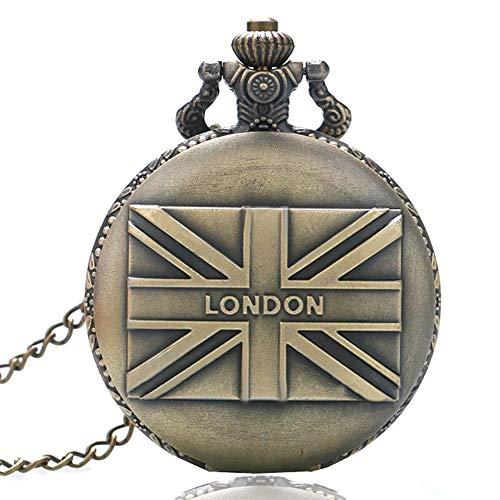 Reloj de bolsillo de cuarzo para hombre y mujer, diseño vintage de Frag London, regalo para hombres
