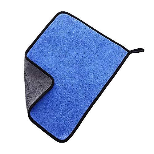 Ajing Paños de limpieza de microfibra para coche, toalla de secado de microfibra, súper absorbente, ultra gruesa, doble capa o pulido, lavado encerado y auto detalle toallas para un acabado de coche