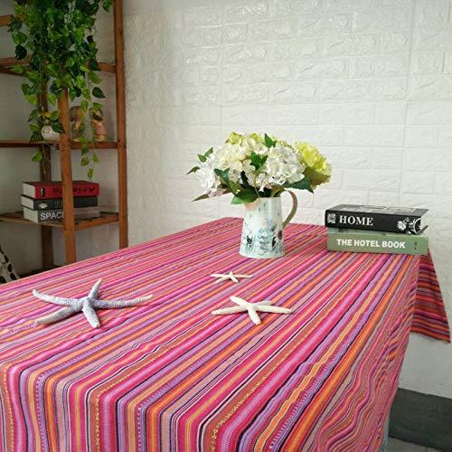 CFWL Nappe en Coton Et Lin Nappe Table Basse Nappe Multi-Usages Serviette Nappe Disposition Multicolore Antitache en Plastique Ete Rectangulaires De Cuisine Couleur Rouge 140x140