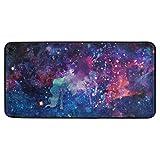 DXG1 - Tappetino da cucina antiscivolo, motivo: unicorno Galaxy Starry Sky per ingresso e camera da letto, 50 x 99 cm, tappeto da bagno 50 x 99 cm