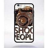 Générique Coque i Shoot People Compatible Apple iphone 6 Plus Bord Noir Silicone