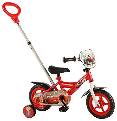 E&L Cycles Kinderfahrrad Disney Cars 10 Zoll mit Schubstange