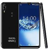 """(2019) 4G Smartphone ohne vertrag, OUKITEL C16 Pro Android 9.0 Handy - MT6761 Quad-Core 2.0GHz 3GB +32GB, 5,71""""Wassertropfen Display, Gesichtserkennungund Fingerabdrucksensor Entsperren Schwarz"""