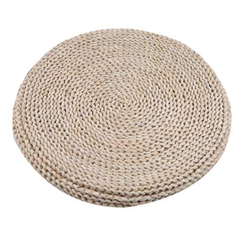 INSEET 45 * 45cm Tatami Bodenkissen Sitzkissen Runder gepolsterter Raumboden Handgefertigte Maisstrohmatte Japanische Fußmatte, Größe 3