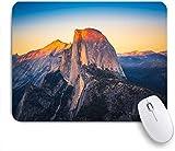 Marutuki Gaming Mouse Pad Rutschfeste Gummibasis,Sonnenuntergangsansicht der halben Kuppel vom Gletscherpunkt im Yosemite-Nationalpark, Kalifornien, USA,für Computer Laptop Office Desk,240 x 200mm