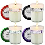 Christmas Candles Gift Set Prank Kiss Jar Candles for Women, Scented Candles Soy Wax Candles, Premium Long Lasting Aromatherapy Candles for Christmas Festival Wedding Birthday Holiday Party, 4 Pack