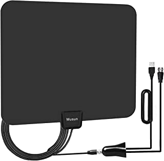 [Upgraded 2019] Digital Amplified HD TV Antenna 50-80 Mile Range - Support 4K 1080p and All TV's w/Detachable HDTV Amplifier Signal Booster - 13.5 Longer Coax Cable