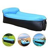 JINGOU Wasserdichtes Aufblasbares Sofa,Luft Sofa Couch,Air Lounger,Aufblasbare Liege, Luftsack mit...