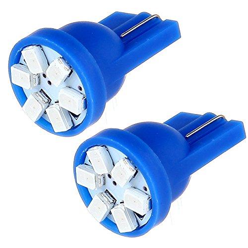 ROADFAR T5 12mm Neo LED Light Bulbs Blue Instrument Panel Gauge Cluster Dashboard Lights HVAC Climate Control Light,20Pcs