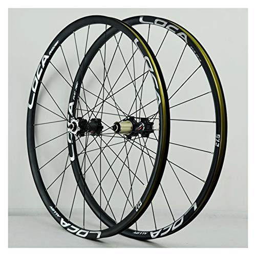 Mountain Bike Wheelset 26/27.5/29 Inch Ultra-Light Aluminum Alloy Bicycle Bike Wheel Set Disc Brake 6 Pawl QR 24H 8-12 Speed (Color : D, Size : 26in)