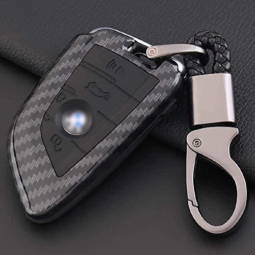 XINERJIA Cubierta de la Llave del Coche para BMW - Abs & amp;Funda Protectora de Silicona para Llavero Funda Protectora para BMW 3 5 7 Series Gt1 X1 X3 X4 X5 X6 Llavero Inteligente para Coche con ll