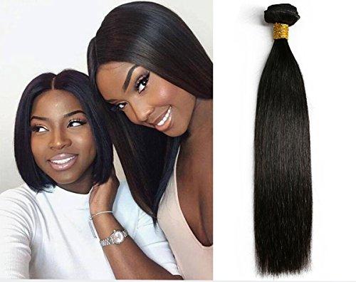 SIADEE 12 Inch 8A Grade Brazilian Real Virgin Human Straight Hair 1 Bundles 100g, Pack of 1, 100g/bundle, Natural Color Hair Bundles.(12 Inches Single Bundle)