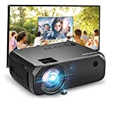 Bomaker Mini Beamer WiFi, 6000 Heimkino Beamer, Native 720P Full HD 300' Display, kompatibel mit TV Stick, HDMI, SD, AV, PS4, X-Box, iOS/Android Smartphone Beamer für draussen