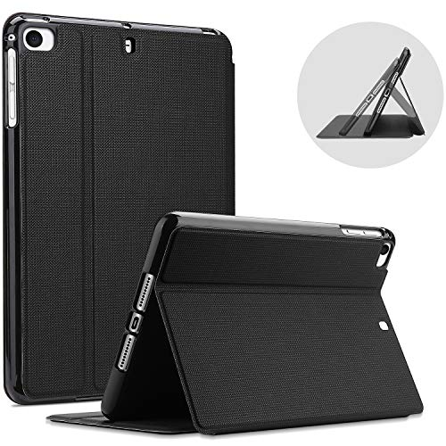 ProCase for iPad Mini 1/2 / 3/4 / 5 Case, Shockproof Lightweight Slim Stand Protective Case Folio Cove –Black