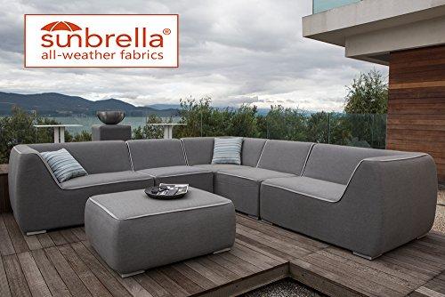 Nadi Grey Sunbrella Fabric Corner Set