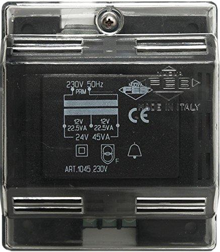Preisvergleich Produktbild FEB 1045 Klingeltrafo 12 oder 24 Vac,  45VA,  45 W,  230 V,  schwarz