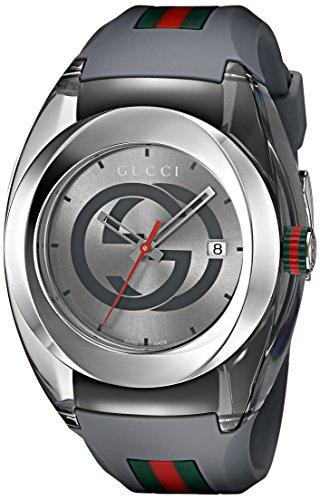 Gucci Reloj analógico para Hombre de con Correa en Caucho YA137109