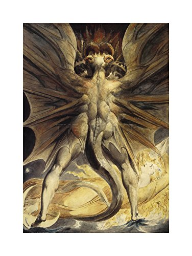 The Art Stop William Blake RED Dragon Woman Clothed Sun 1805 Framed Print Picture F12X1927