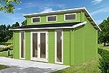 Gartenhaus LANGEOOG C70 Blockhaus Holzhaus 510 x 410 cm - 70 mm Ferienhaus