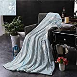 GGACEN Faux Fur Throw Blanket Swirled Blooming Daisy Flower Petals <span class='highlight'>Essence</span> Nature Beauty Chamomile Print Extra Cozy, Machine Washable, Comfortable Home Decor 30