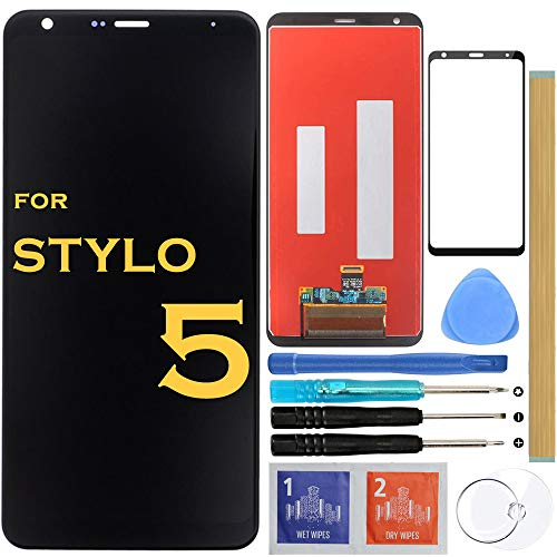 Screen Replacement LCD Display Touch Digitizer Assembly for LG Stylo 5 Stylus 5 LM-Q720 Q720CS/PS Q720MS/US 6.2' (Black)