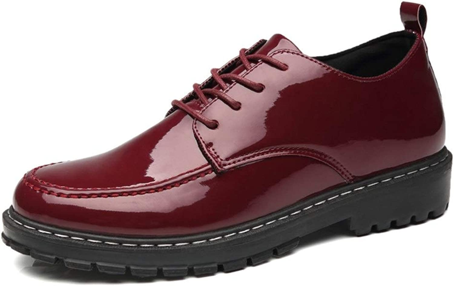 Ino Oxford shoes for Men Formal shoes Lace Up Style PU Leather Patent Leather Outsole Beat Toe Perfunctory Business