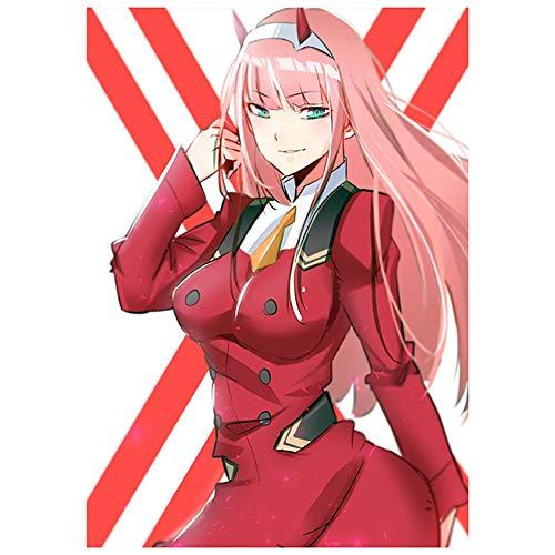 Pinenuts Anime Poster Darling im Franxx Anime Home Decor Poster für Anime Geschenk Otaku Japan Cartoon gelb