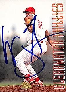 Autograph Warehouse 244625 Wayne Gomes Autographed Baseball Card - Philadelphia Phillies44; FT 1994 Classic Best Gold Minor League Rookie - No. 36