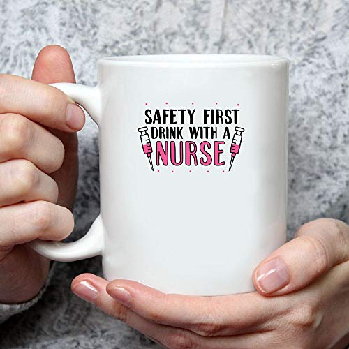 MG global Safety First Drink MG Global- Idea Gift For Nurse- DIY- Mother's Day Gift With A Nurse Nursing Mug