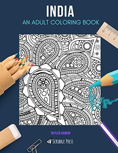 INDIA AN ADULT COLORING BOOK An India Coloring Book For Adults product image